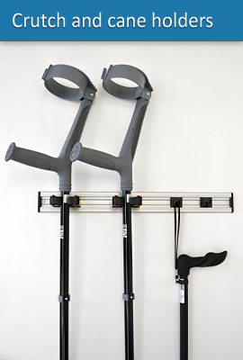Crutch and cane holder model CH20